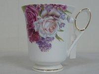 ROSE GARDEN マグカップ ホワイト/ピンクローズ